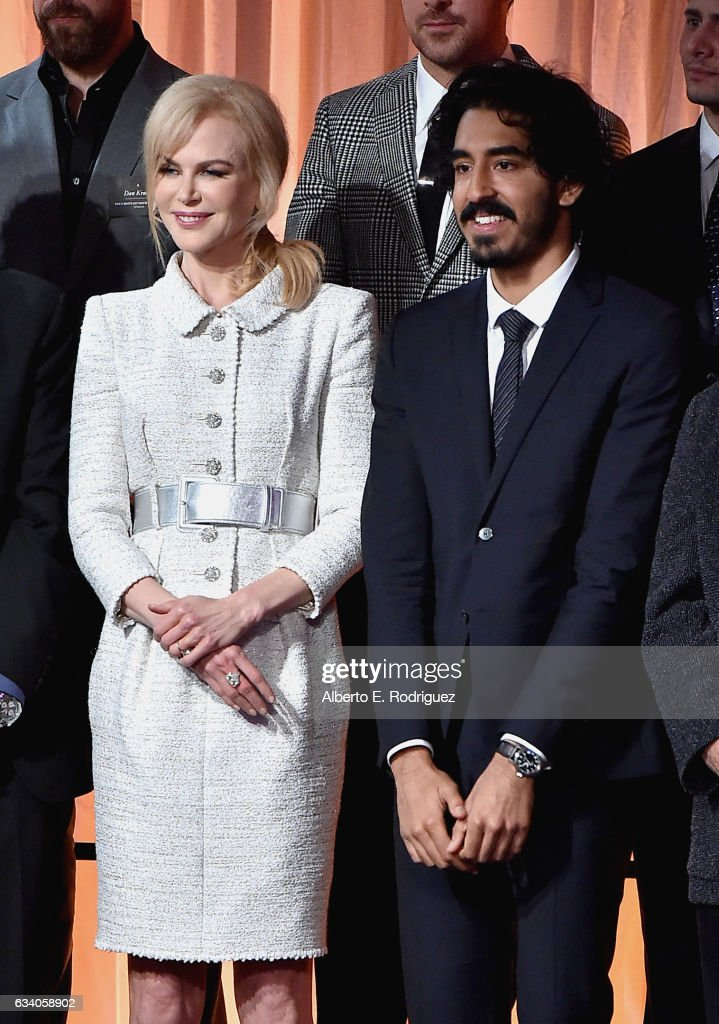 Actress Nicole Kidman (L) and actor Dev Patel attend the 89th Annual Academy Awards Nominee Luncheon at The Beverly Hilton Hotel on February 6, 2017 in Beverly Hills, California.
