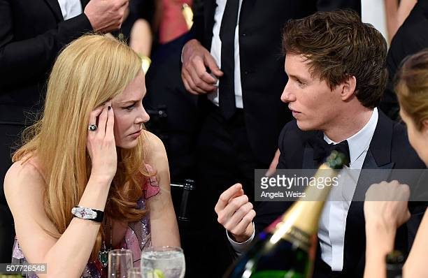 Actress Nicole Kidman and actor Eddie Redmayne attend the 22nd Annual Screen Actors Guild Awards at The Shrine Auditorium on January 30, 2016 in Los...