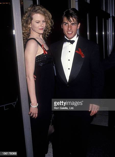 Actress Nicole Kidman and actor Tom Cruise attend the 64th Annual Academy Awards on March 30 1992 at Dorothy Chandler Pavilion Los Angeles Music...