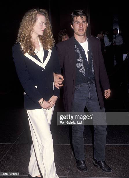 Actress Nicole Kidman and actor Tom Cruise attend the 'Year of the Comet' West Hollywood Premiere on April 21 1992 at DGA Theatre in West Hollywood...