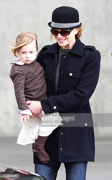 Actress Nicole Kidman and daughter Sunday Rose Urban are seen on the Streets of Manhattan on November 17 2010 in New York City Actress Nicole Kidman...