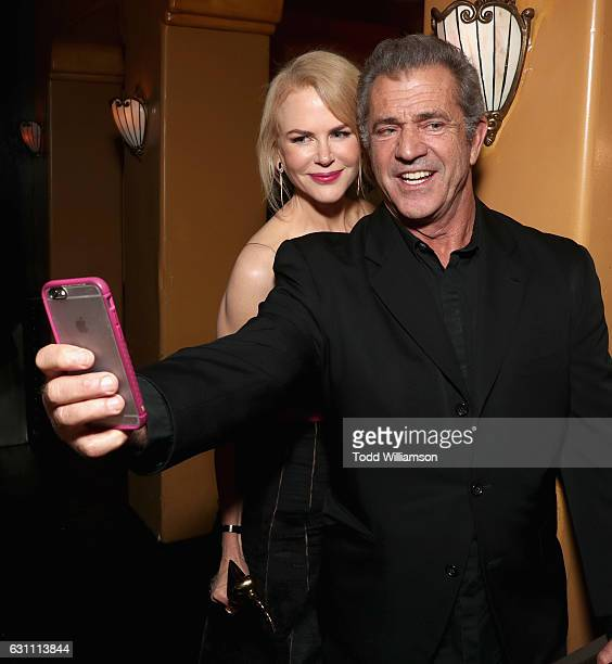 Actress Nicole Kidman and director Mel Gibson attend The 6th AACTA International Awards on January 6 2017 in Los Angeles California