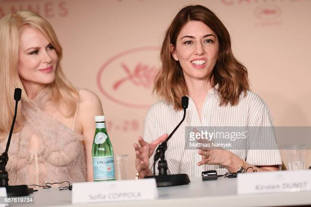 Actress Nicole Kidman and director Sofia Coppolla attend the 'The Beguiled' press conference during the 70th annual Cannes Film Festival at Palais...