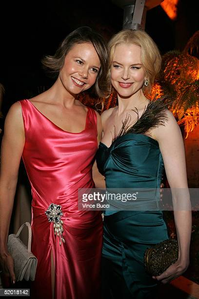 Actress Nicole Kidman and her sister Antonia Kidman attend the Miramax 2005 Golden Globes After Party at Trader Vics on January 16 2005 in Beverly...