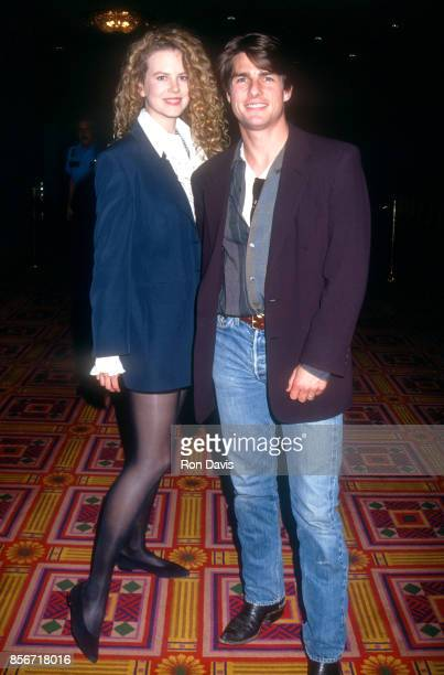Actress Nicole Kidman and husband actor Tom Cruise pose for a portrait circa 1992 in Los Angeles California