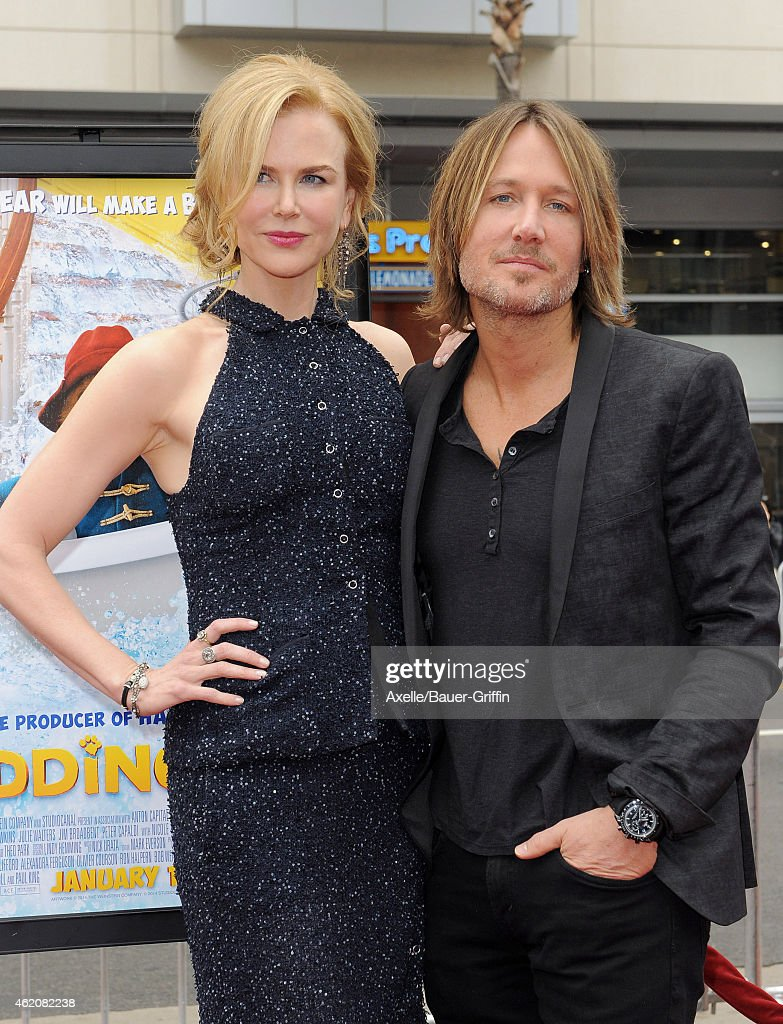 Actress Nicole Kidman and husband Keith Urban arrive at the Los Angeles premiere of 'Paddington' at TCL Chinese Theatre IMAX on January 10, 2015 in Hollywood, California.