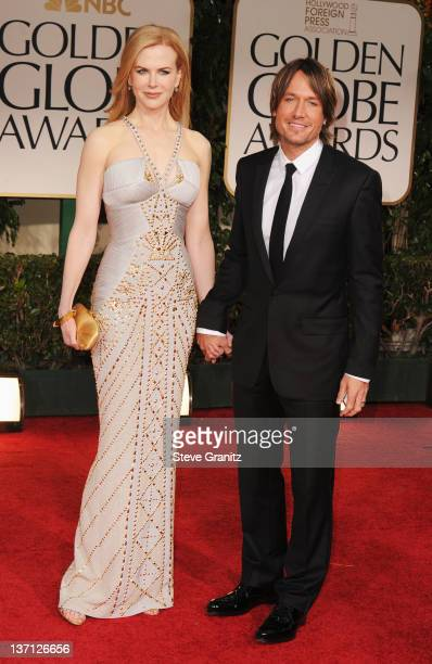 Actress Nicole Kidman and husband singer Keith Urban arrive at the 69th Annual Golden Globe Awards held at the Beverly Hilton Hotel on January 15...