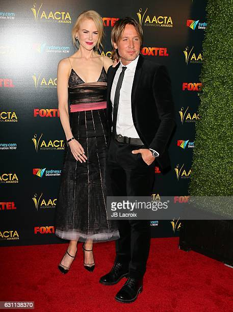 Actress Nicole Kidman and Keith Urban attend the 6th AACTA International Awards on January 6 2017 in Los Angeles California