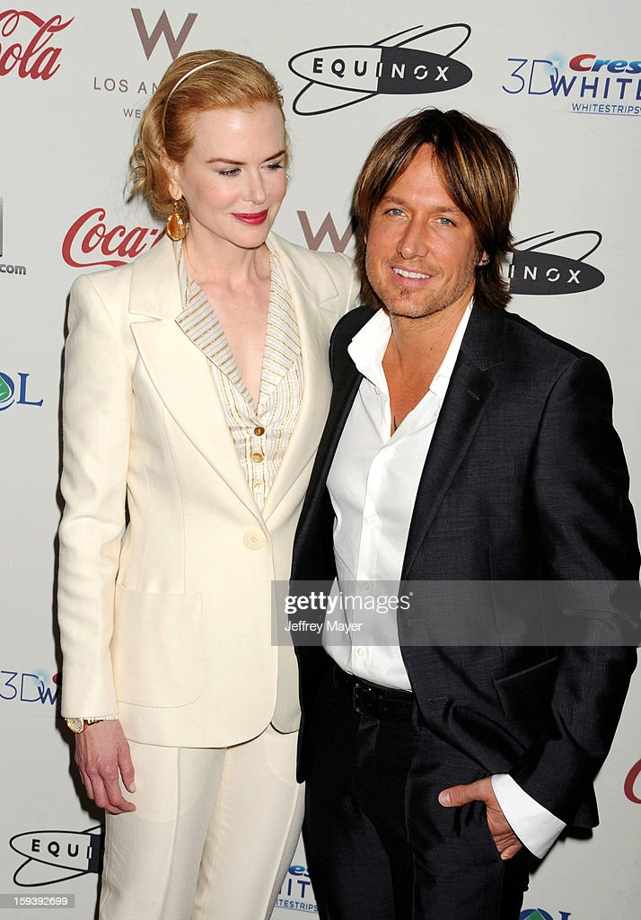 Actress Nicole Kidman and Musician Keith Urban arrive at CW3PR Presents the inaugural 'Gold Meets Golden' event at New Equinox Flagship on January 12, 2013 in Los Angeles, California.