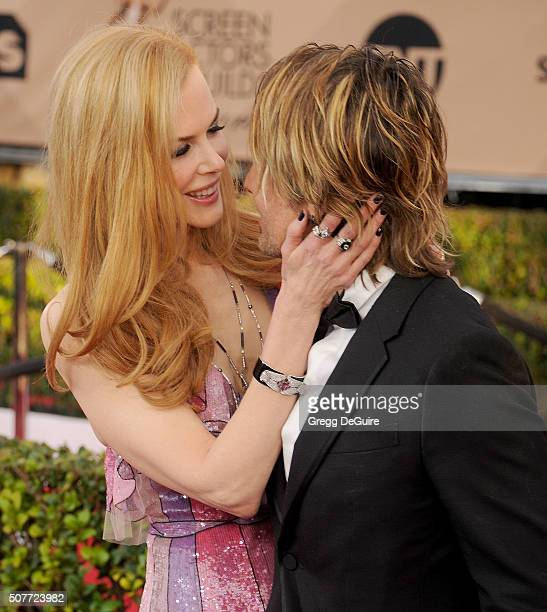 Actress Nicole Kidman and musician Keith Urban arrive at the 22nd Annual Screen Actors Guild Awards at The Shrine Auditorium on January 30 2016 in...