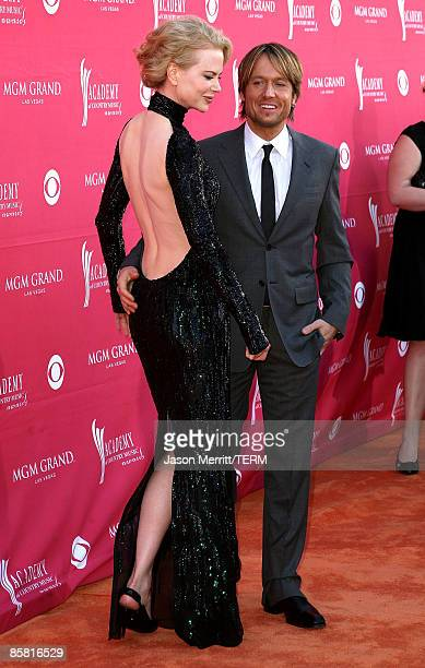 Actress Nicole Kidman and musician Keith Urban arrive at the 44th annual Academy Of Country Music Awards held at the MGM Grand on April 5 2009 in Las...