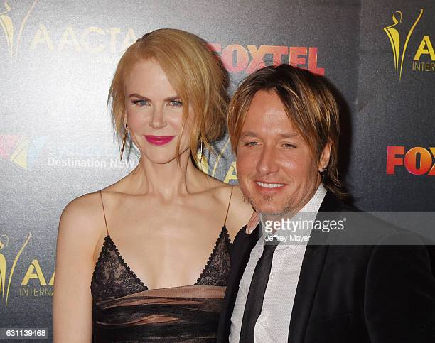Actress Nicole Kidman and musician Keith Urban arrive at the 6th AACTA International Awards at Avalon Hollywood on January 6 2017 in Los Angeles...
