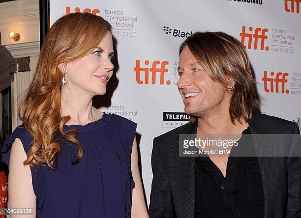 Actress Nicole Kidman and musician Keith Urban arrive at the Rabbit Hole Premiere held at The Elgin during the 35th Toronto International Film...