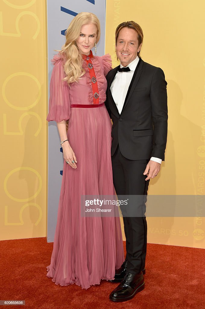 Actress Nicole Kidman and musician Keith Urban attend the 50th annual CMA Awards at the Bridgestone Arena on November 2, 2016 in Nashville, Tennessee.