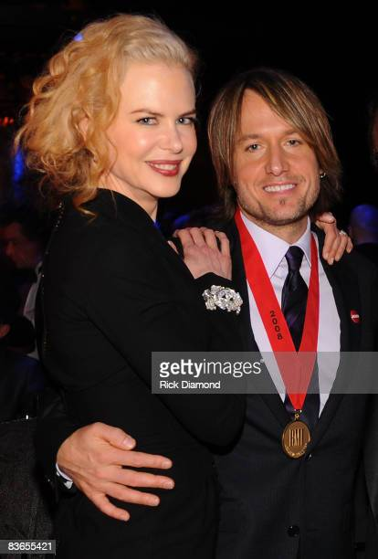 Actress Nicole Kidman and musician Keith Urban attend the 56th Annual BMI Country Awards at The BMI Building on November 11 2008 in Nashville...