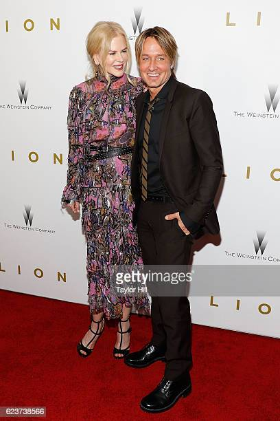 Actress Nicole Kidman and musician Keith Urban attend the premiere of 'Lion' at Museum of Modern Art on November 16 2016 in New York City