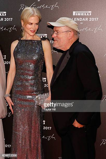 Actress Nicole Kidman and Peter Lindbergh attend the 2016 Pirelli Calendar unveiling gala at La Cite Du Cinema on November 29 2016 in SaintDenis...