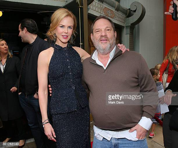 Actress Nicole Kidman and Producer Harvey Weinstein attend the premiere of TWCDimension's 'Paddington' held at the TCL Chinese Theatre IMAX on...