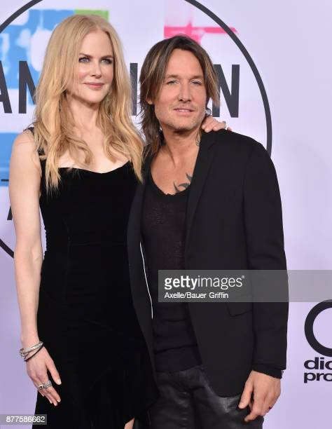 Actress Nicole Kidman and singer Keith Urban arrive at the 2017 American Music Awards at Microsoft Theater on November 19 2017 in Los Angeles...