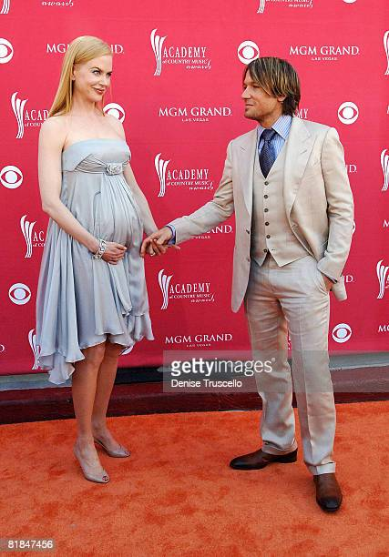 Actress Nicole Kidman and singer Keith Urban arrive at the 43rd Academy of Country Music Awards at The MGM Grand Garden Arena on May 18 2008 in Las...