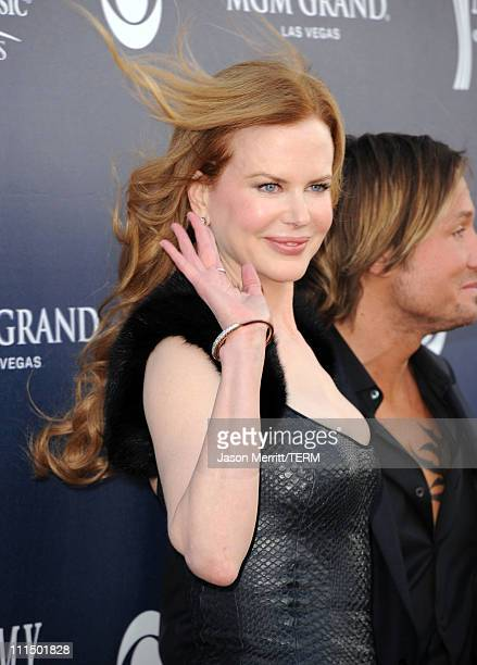 Actress Nicole Kidman and singer Keith Urban arrive at the 46th Annual Academy Of Country Music Awards RAM Red Carpet held at the MGM Grand Garden...
