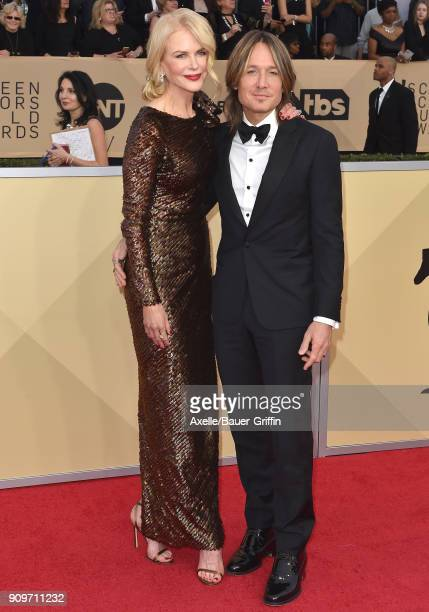 Actress Nicole Kidman and singer Keith Urban attend the 24th Annual Screen Actors Guild Awards at The Shrine Auditorium on January 21 2018 in Los...
