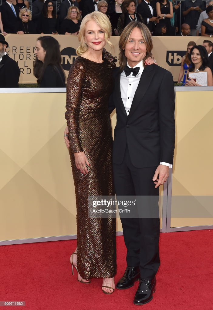 Actress Nicole Kidman and singer Keith Urban attend the 24th Annual Screen Actors Guild Awards at The Shrine Auditorium on January 21, 2018 in Los Angeles, California.