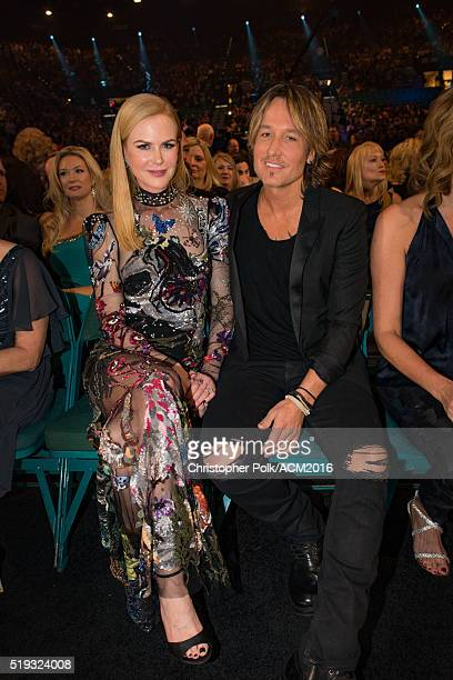Actress Nicole Kidman and singer Keith Urban attend the 51st Academy of Country Music Awards at MGM Grand Garden Arena on April 3 2016 in Las Vegas...