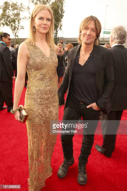 Actress Nicole Kidman and singer Keith Urban attend the 55th Annual GRAMMY Awards at STAPLES Center on February 10 2013 in Los Angeles California