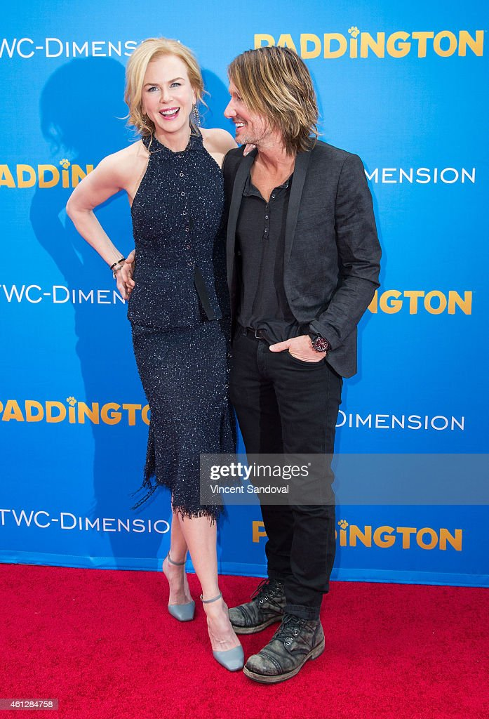 Actress Nicole Kidman (L) and singer Keith Urban attend the Los Angeles premiere of 'Paddington' at TCL Chinese Theatre IMAX on January 10, 2015 in Hollywood, California.
