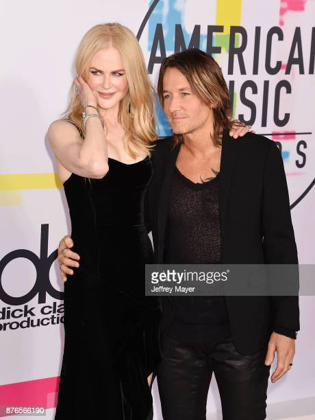 Actress Nicole Kidman and singer/musican Keith Urban attend the 2017 American Music Awards at Microsoft Theater on November 19 2017 in Los Angeles...