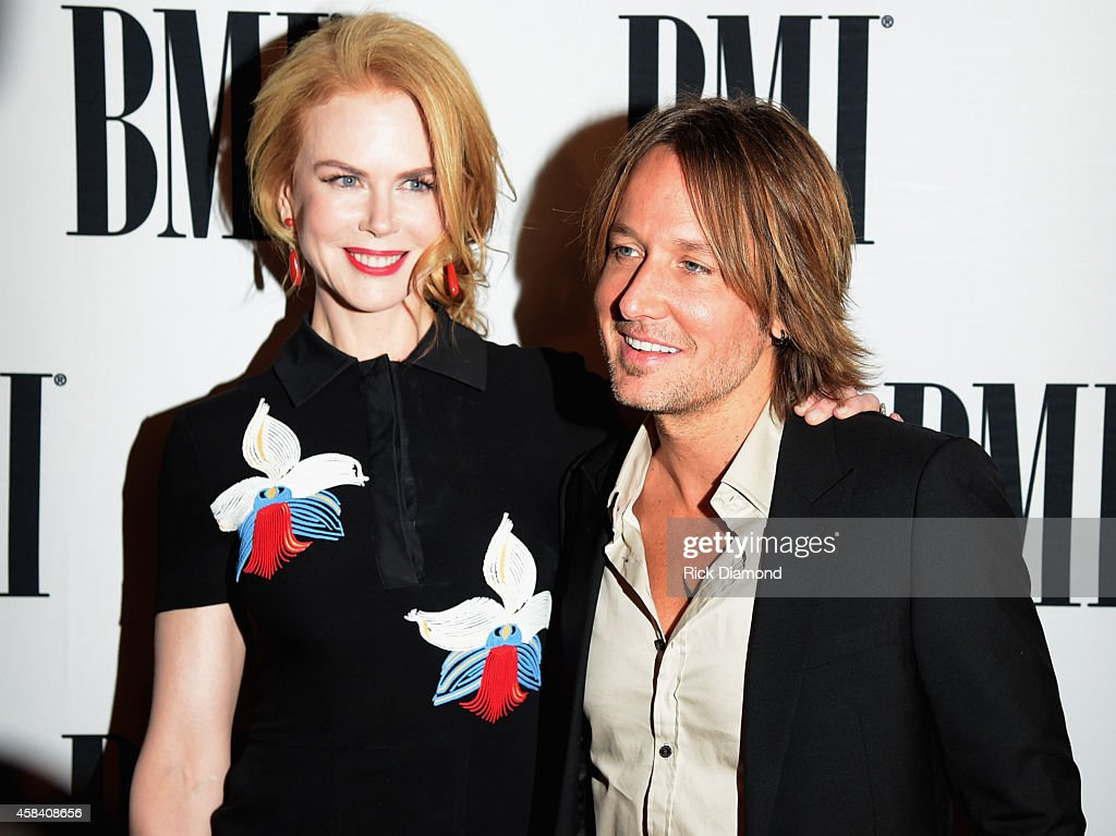 Actress Nicole Kidman and singer-songwriter Keith Urban attend the BMI 2014 Country Awards at BMI on November 4, 2014 in Nashville, Tennessee.