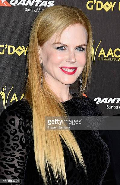 Actress Nicole Kidman arrive at the 2015 G'Day USA Gala Featuring The AACTA International Awards Presented By QANTAS at the Hollywood Palladium on...