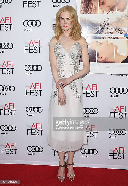 Actress Nicole Kidman arrives at AFI FEST 2016 Presented by Audi Screening of The Weinstein Company's 'Lion' at TCL Chinese 6 Theatres on November 11...