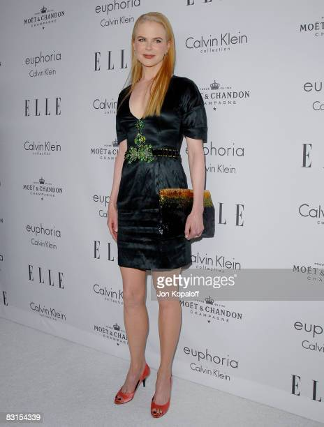 """Actress Nicole Kidman arrives at """"Elle Magazine's 15th Annual Women in Hollywood Tribute"""" at the Four Seasons Hotel on October 6, 2008 in Beverly..."""
