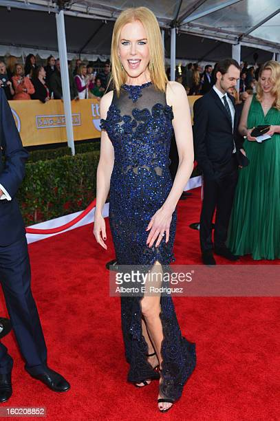 Actress Nicole Kidman arrives at the 19th Annual Screen Actors Guild Awards held at The Shrine Auditorium on January 27, 2013 in Los Angeles,...
