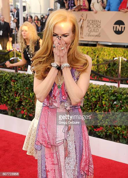 Actress Nicole Kidman arrives at the 22nd Annual Screen Actors Guild Awards at The Shrine Auditorium on January 30 2016 in Los Angeles California