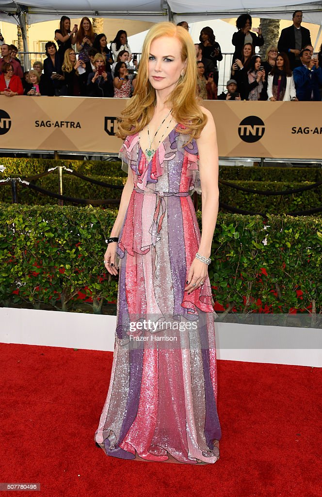 Actress Nicole Kidman arrives at the 22nd Annual Screen Actors Guild Awards at The Shrine Auditorium on January 30, 2016 in Los Angeles, California.