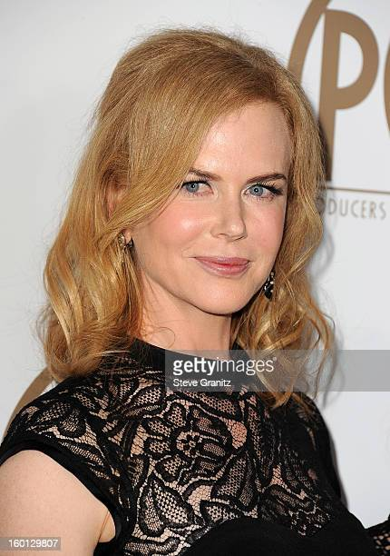Actress Nicole Kidman arrives at the 24th Annual Producers Guild Awards held at The Beverly Hilton Hotel on January 26, 2013 in Beverly Hills,...