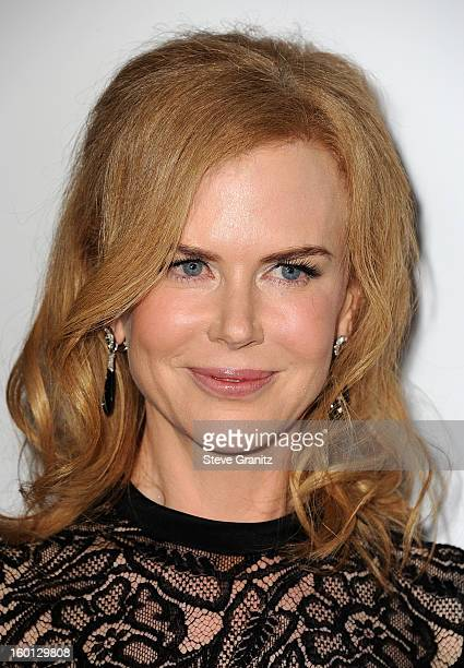 Actress Nicole Kidman arrives at the 24th Annual Producers Guild Awards held at The Beverly Hilton Hotel on January 26 2013 in Beverly Hills...