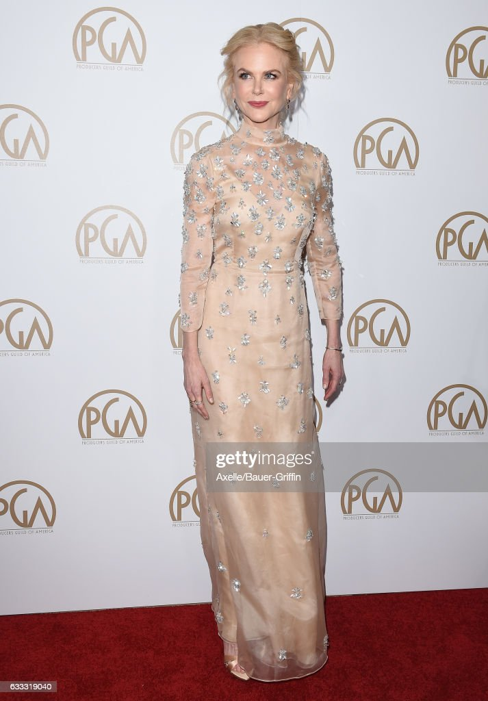 Actress Nicole Kidman arrives at the 28th Annual Producers Guild Awards at The Beverly Hilton Hotel on January 28, 2017 in Beverly Hills, California.