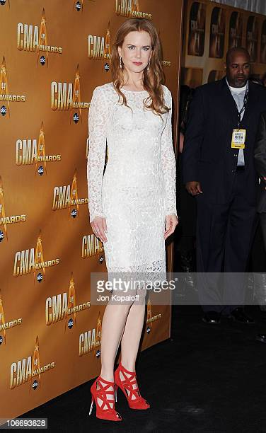 Actress Nicole Kidman arrives at the 44th Annual CMA Awards at the Bridgestone Arena on November 10 2010 in Nashville Tennessee
