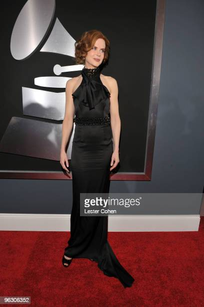 Actress Nicole Kidman arrives at the 52nd Annual GRAMMY Awards held at Staples Center on January 31 2010 in Los Angeles California
