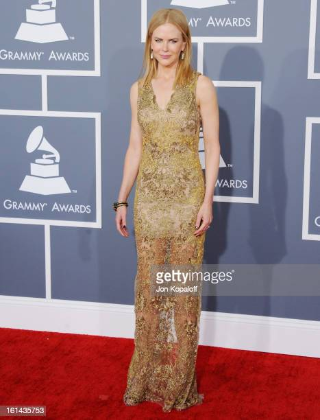 Actress Nicole Kidman arrives at The 55th Annual GRAMMY Awards at Staples Center on February 10 2013 in Los Angeles California