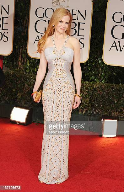Actress Nicole Kidman arrives at the 69th Annual Golden Globe Awards held at the Beverly Hilton Hotel on January 15 2012 in Beverly Hills California