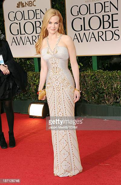 Actress Nicole Kidman arrives at the 69th Annual Golden Globe Awards held at the Beverly Hilton Hotel on January 15, 2012 in Beverly Hills,...