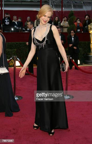 Actress Nicole Kidman arrives at the 80th Annual Academy Awards held at the Kodak Theatre on February 24 2008 in Hollywood California