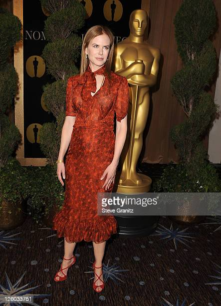Actress Nicole Kidman arrives at the 83rd Academy Awards Nominations Luncheon held at the Beverly Hilton Hotel on February 7, 2011 in Beverly Hills,...