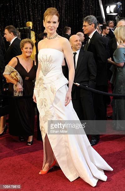 Actress Nicole Kidman arrives at the 83rd Annual Academy Awards held at the Kodak Theatre on February 27 2011 in Hollywood California