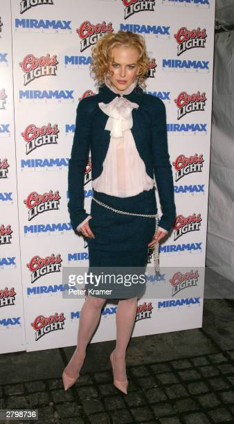 """Actress Nicole Kidman arrives at the after party for """"Cold Mountain"""" December 9, 2003 in New York City."""